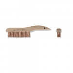 13.75-in Scratch Brush w/ Curved Handle, 4 X 19 Rows