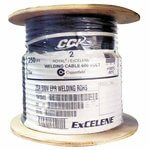 Spool of 250 Foot Long 2 AWG 600V Black Welding Cable