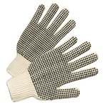 Natural White PVC Dot String Knit Gloves