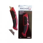 Auto Load Utility Knife, 10 Blade, Red & Black