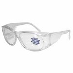 Full-Lens Magnifying Safety Glasses, 2.50 Diopter, Clear