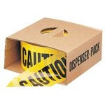 Economy Barrier Caution Tape, 3 in x 1,000 Ft, Yellow