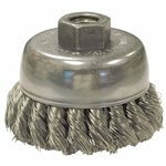 2.75 Inch Diameter Knot Wheel Brush with .014 Inch Carbon Steel Wire