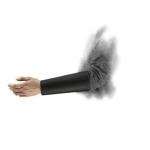 HyFlex® Cut Resistant Sleeve, Size 9, Black