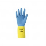 Chemi-Pro Unsupported Neoprene Gloves, Size 10, Yellow/Blue