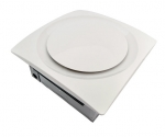 Low Profile 120 CFM 0.7 Sones Slim Fit Bathroom Ceiling and Wall Fan with White Grille