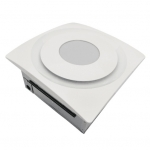 33W Slim Fit Bathroom Fan, 10W Light & Humidity Sensor, 90 CFM, White