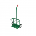 Single Handle Welding Cart, Dual Cylinder, 7-in Wheel