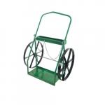 Low-Rail Welding Cart, Dual Cylinder, 24-in Wheel