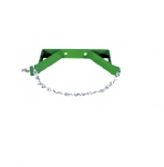 Single Cylinder Bracket w/ Safety Chain for 7-in to 9.5-in Cylinders, Wall Mounted