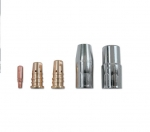 "3/4"" Bore Heavy Duty Mig Nozzles, Elliptical Series, Copper"