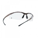 Contour Series Safety Glasses, Black w/ Clear Lens
