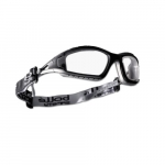 Tracker Series Safety Glasses, Black & Gray w/ Clear Lens