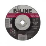 4.5-in Depressed Center Combo Wheel, 30 Grit, Aluminum Oxide, Resin Bond