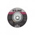 5-in Depressed Center Grinding Wheel, 24 Grit, Aluminum Oxide, Resin Bond