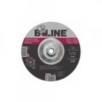 7-in Depressed Center Grinding Wheel, 24 Grit, Aluminum Oxide, Resin Bond