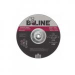 9-in Depressed Center Grinding Wheel, 30 Grit, Aluminum Oxide, Resin Bond