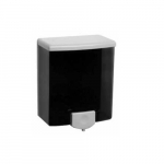 Black and Gray Surface-Mounted Liquid Soap Dispenser, Holds 40 oz.