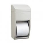Matrix Gray Plastic Dual Roll Toilet Paper Dispenser