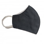 Kids' Reusable 2-Ply PPE Antimicrobial Cloth Face Mask, Dark Gray