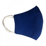 Reusable 3-Ply PPE Antimicrobial Cloth Face Mask, Elastic Strap, Dark Blue