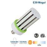 150W LED Corn Bulb, 22950 Lumens, 5000K, 1000W MH Equivalent