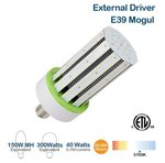 40W LED Corn Bulb, 150W MH Replacement, 5200 Lumens, 5700K
