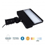 150W Shoebox Area Light, 400W MH/HID Retrofit, 21000 Lumens, DLC
