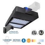 300W Shoebox LED Pole Light w/ Photocell, 1000W MH Equivalent, 39000 Lumens