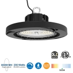 200W LED UFO High Bay, 600W MH/HID Retrofit, 26000 Lumens, DLC Premium