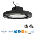 240W LED UFO High Bay, 1000W MH/HPS Retrofit, 36000 lm, 0-10V Dimmable, DLC Premium