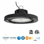 240W LED UFO High Bay, 1000W MH/HPS Retrofit, 36000 lm, 0-10V Dimmable, 480V