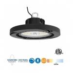 240W LED UFO High Bay, 1000W MH/HPS Retrofit, 36000 lm, 0-10V Dim, 480V, 5000K
