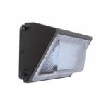 60W Semi Cut Wall Pack w/Photo Cell Sensor, 7200 Lumens, 5000K