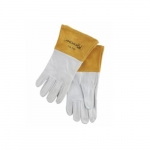 Large Capeskin Welding Gloves, White/Tan