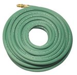 Single Line Welding Hoses, 1/4 in, 25 ft, Argon, Green