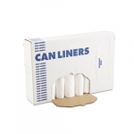 White Linear Low-Density Can Liners w/ 12 to 16 Gal Capacity