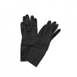 Neoprene Flock-Lined Gloves, Long-Sleeved, Large, Black