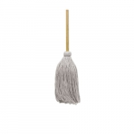 White, Cotton Cut-End Deck Mop Head With Handle-#32