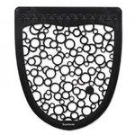 Black/White Non-slip Urinal Mat 6-count