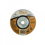 4.5-in A24 Gold Depressed Center Cutting Wheel, 24 Grit, Aluminum Oxide