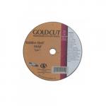 4-in A36 Gold Flat Cutting Wheel, 36 Grit, Aluminum Oxide