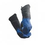 18-in Fleece Lined Welding Gloves, Blue/Black