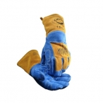 Wool Lined Welding Gloves, Blue/Gold