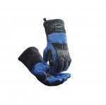 Wool Lined Welding Gloves, Large, Blue/Black