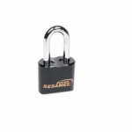 Resettable Keyless Padlock, Heavy Duty, 4-Dial, 2-in Shackle, Black