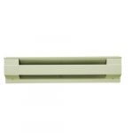 2500W 10' Electric Baseboard Heater, Almond