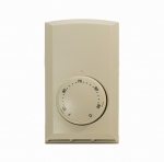 Single Pole Wall Mount Thermostat, Non-Programmable, 22 Amp, Almond