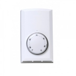 Line Voltage Double Pole Wall Mount Thermostat, White