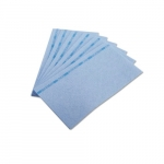 Chix Blue/Blue Reusable Foodservice Towels w/ Microban 13X24
